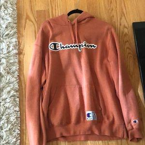 orange vintage champion hoodie